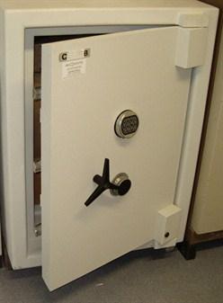 Openstaande witte brandkast voor huisbeveiliging – GW Security Group