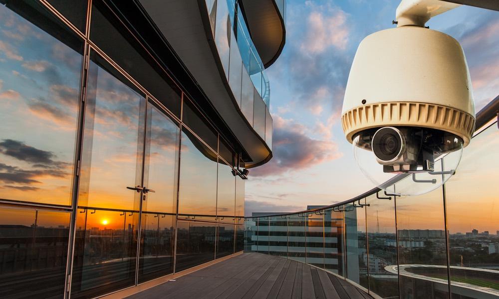 Een kantoor met camerabeveiliging van beveiligingsfirma GW Security Group